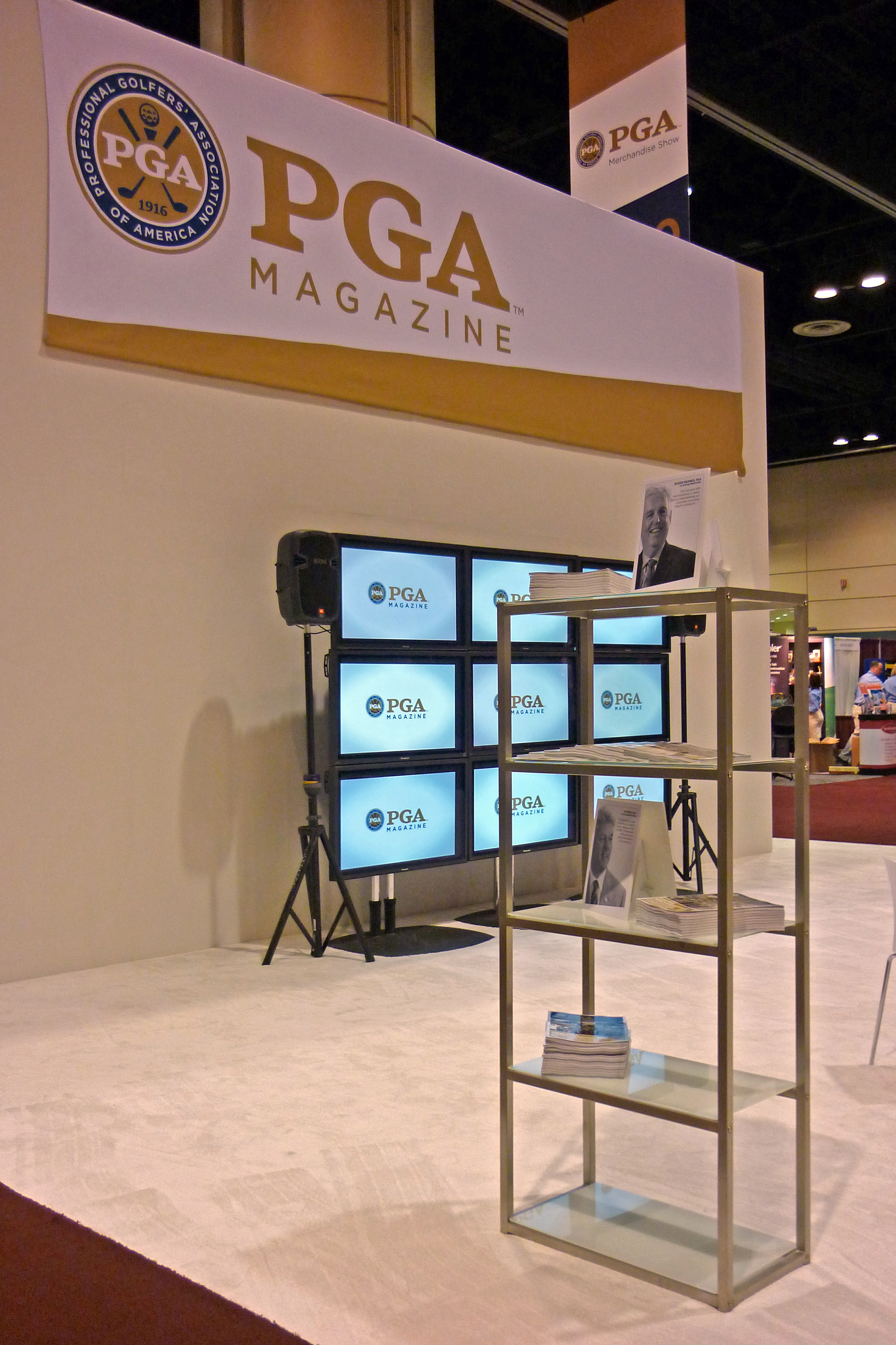 Floor of the PGA Merchandise Show, 2010.