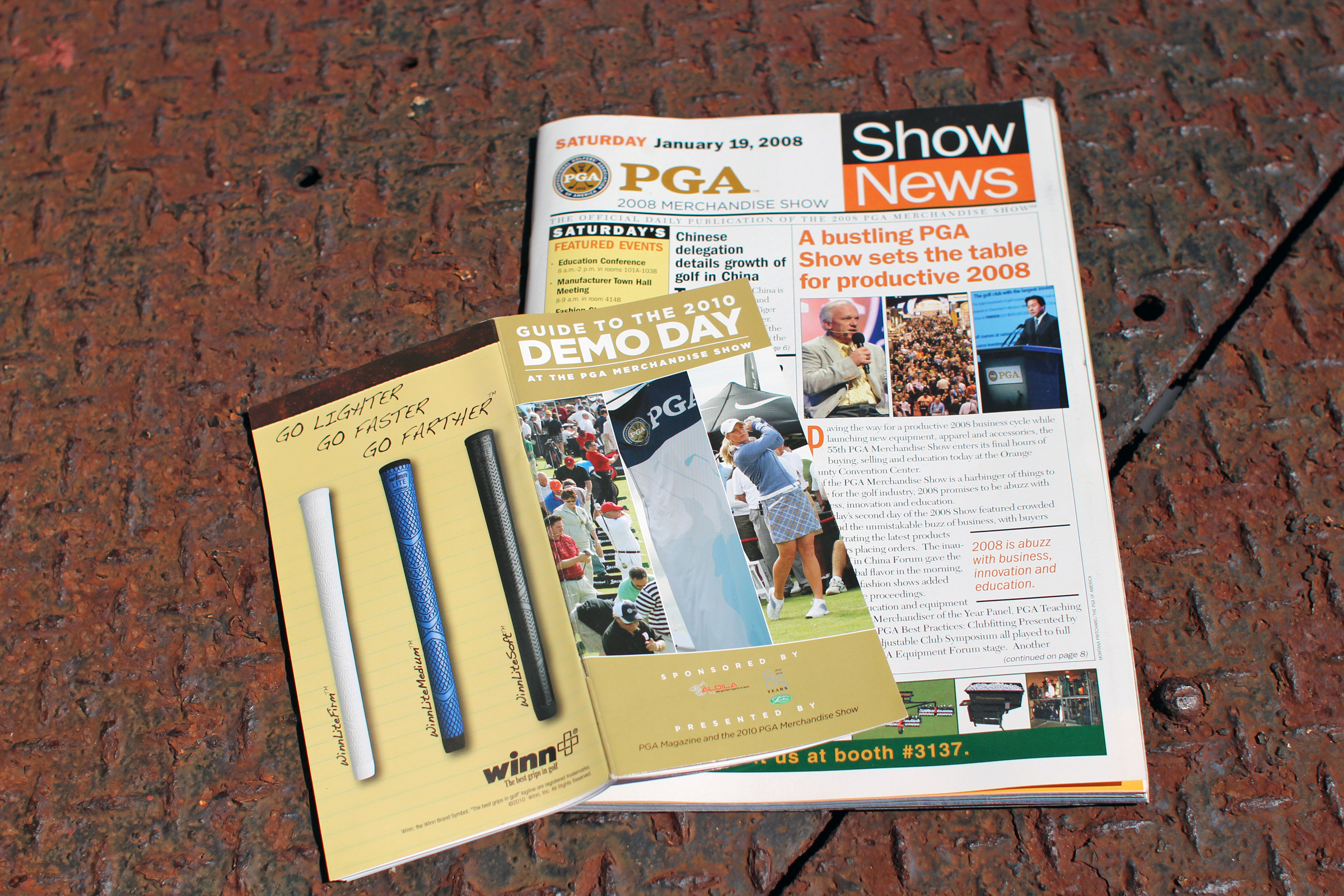 Various PGA Magazine publications for the PGA Merchandise Show, 2008-2010.