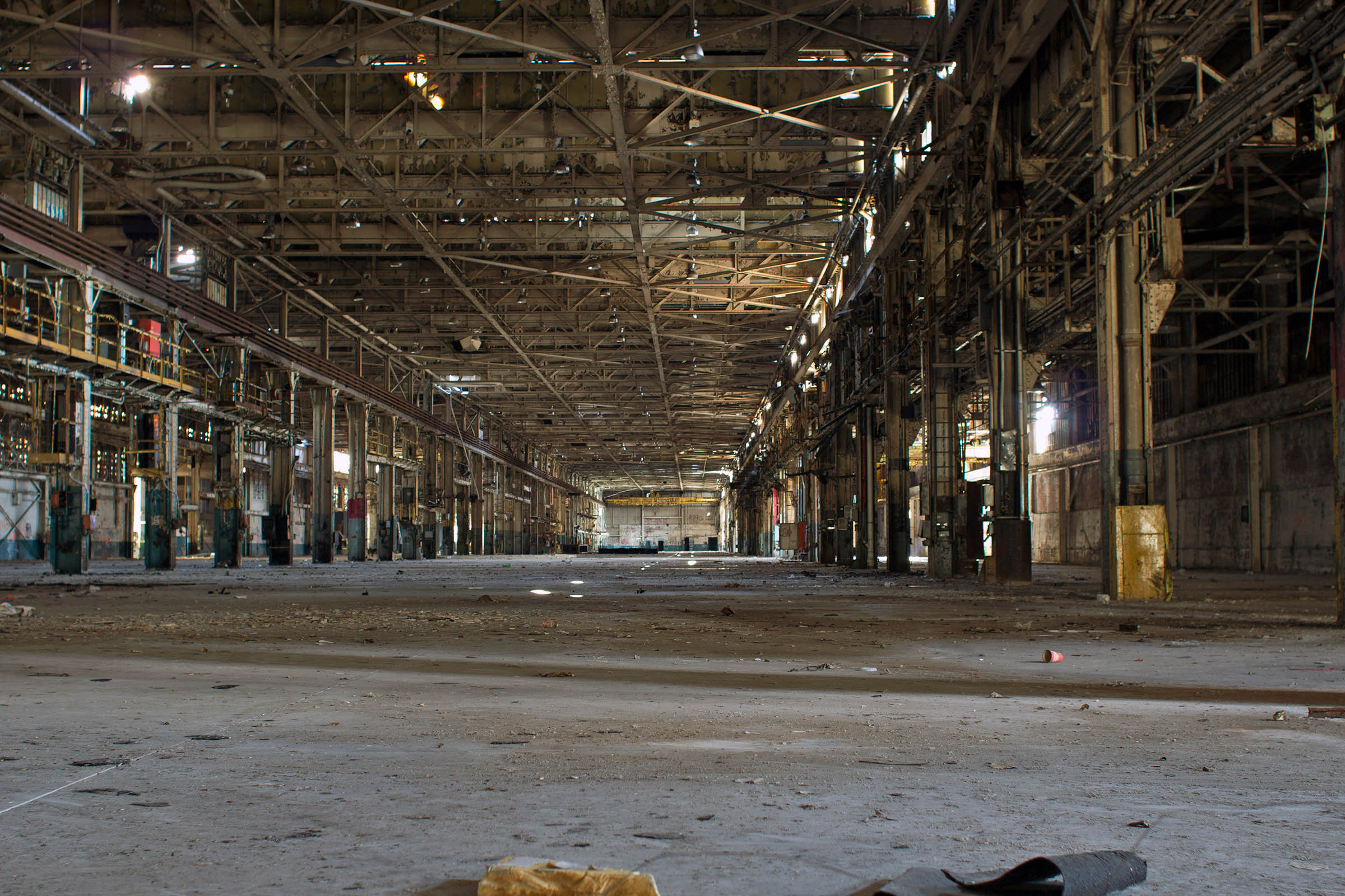 Interior of the Budd Factory Complex in Philadelphia, PA, 2013.