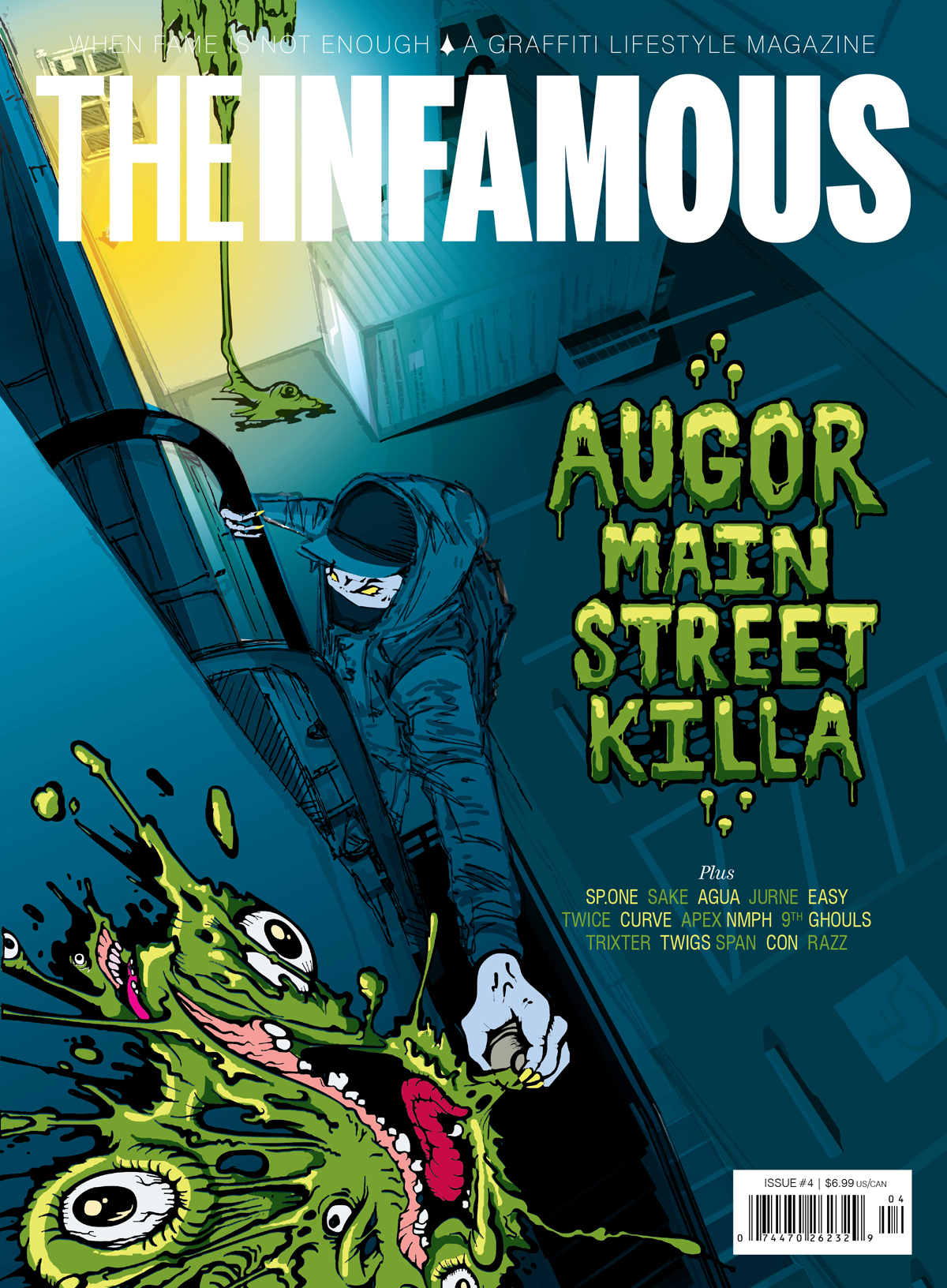 Cover of Issue 4 of The Infamous magazine, 2011. Illustration by Ikews.