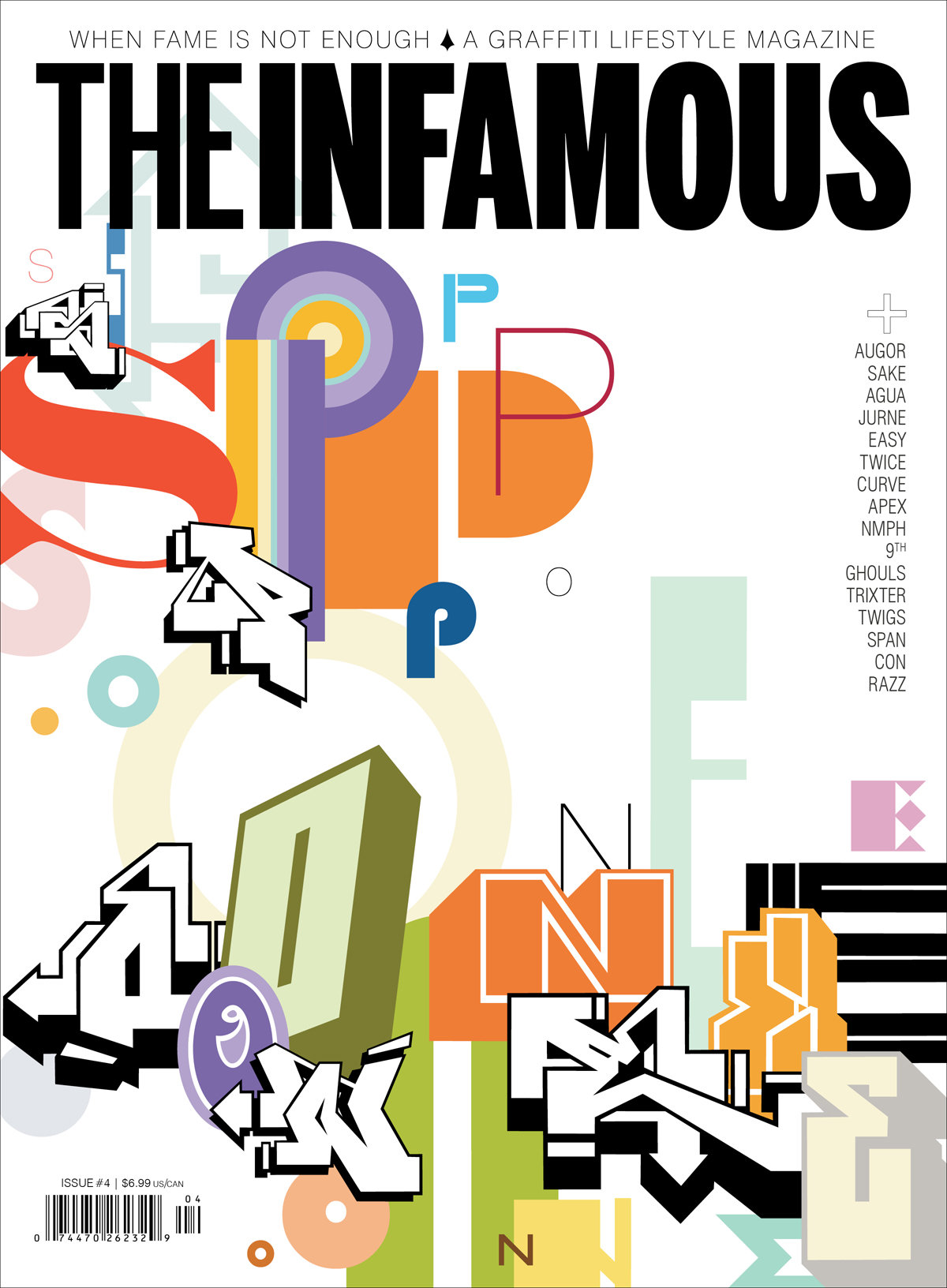 Cover of Issue 4 of The Infamous magazine, 2011. Illustration by SP One.