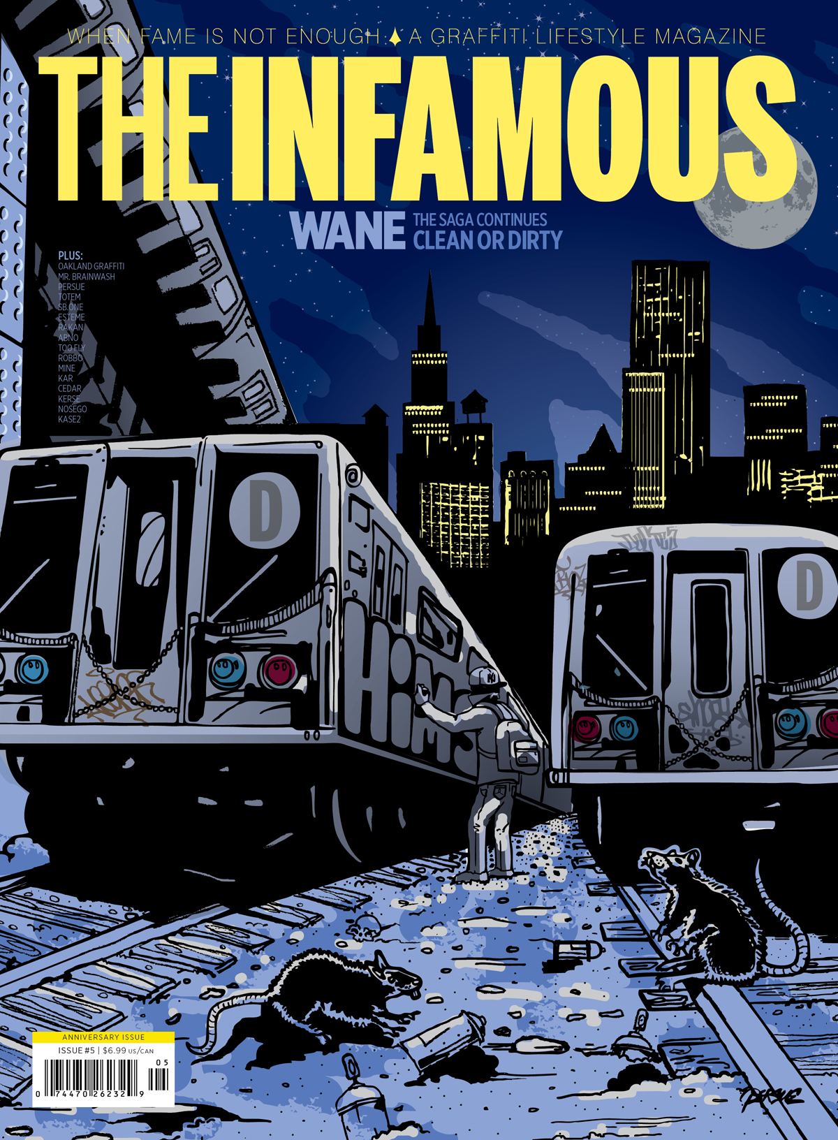 Cover of Issue 5 of The Infamous magazine, 2011. Illustration by Persue.