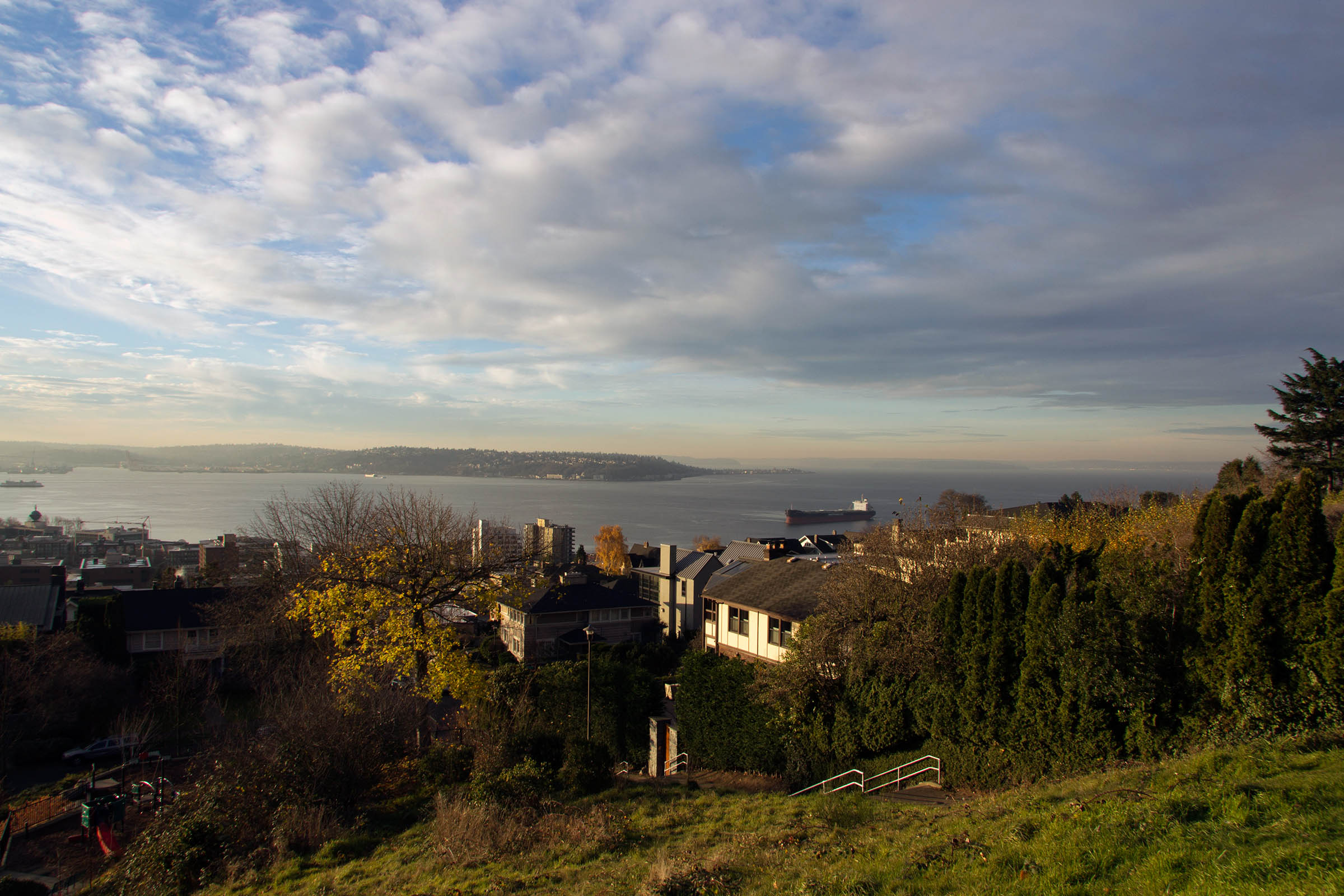 View of Puget Sound from Kerry Park, Seattle, WA, USA, 2013.