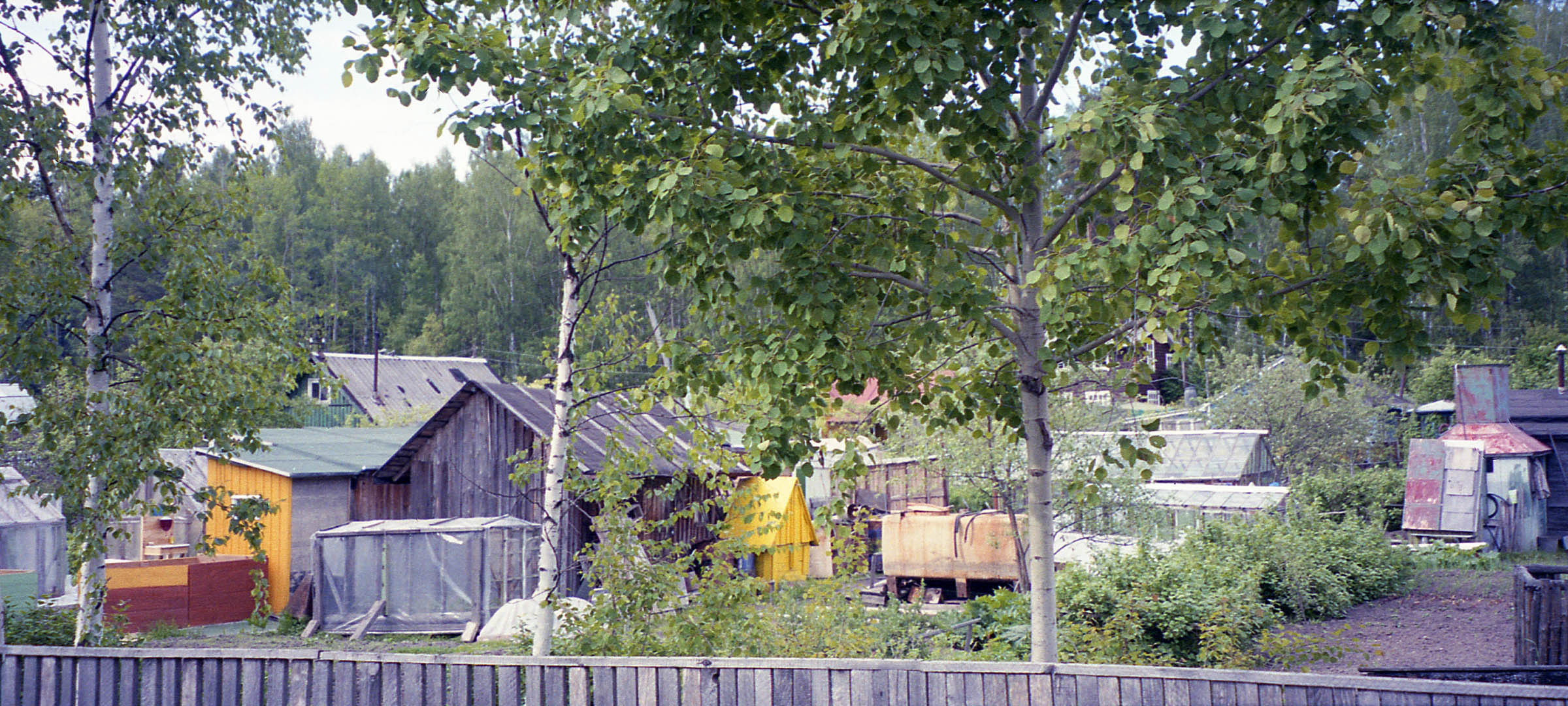 Dachas (country cottages) near Vyborg, Russia, 2003.