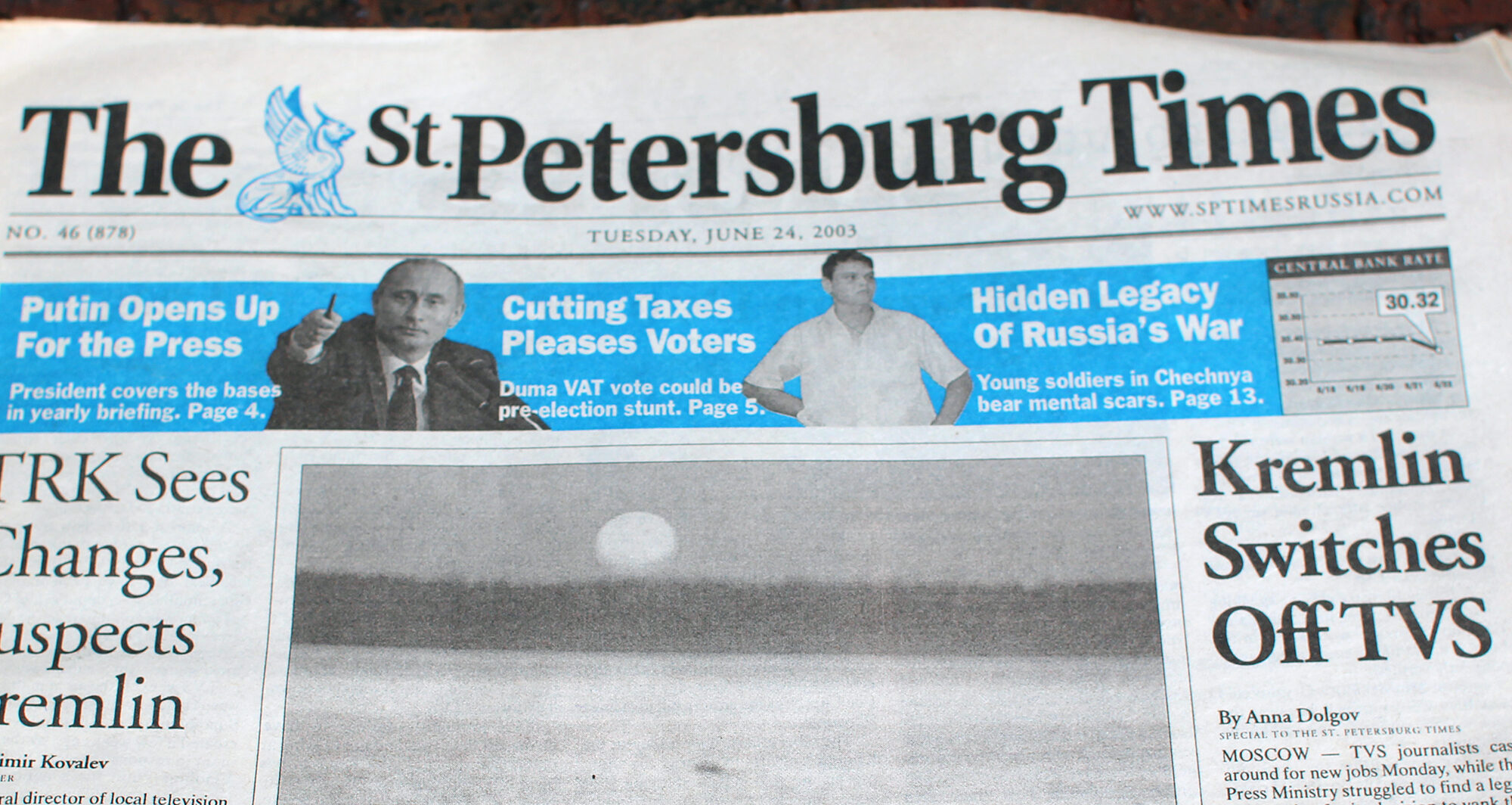 Photo of the June 24, 2003, edition of The St. Petersburg Times.
